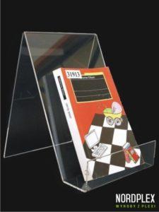 Stojak pod książki, duży - wysokość 23 cm, trzy kolory, pion BL001