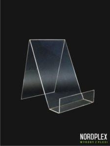 Stojak pod książki, mały - wysokość 18 cm, trzy kolory, pion BL002 - przezroczysty