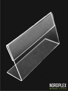 Cenówka, stojak pod cenę, opis - wymiar 5 x 10 cm, poziom CN002
