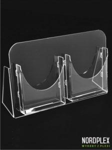 Podajnik dwu kieszeniowy na ulotki, foldery– poziom A6, A5, A4, DL KS006