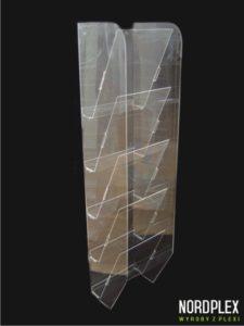 Wiszący podajnik kaskadowy na ulotki - pion A4 x 5 PR002